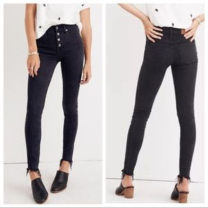 """Madewell 9"""" High Rise Button Fly Ankle Skinny Jean"""